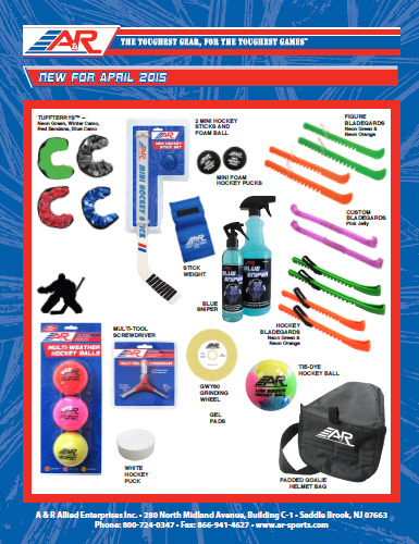 A&R Sports New Items for April 2015